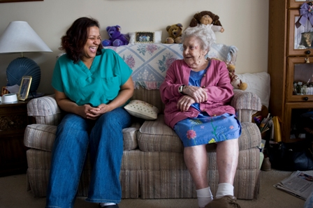 Homecare worker and client